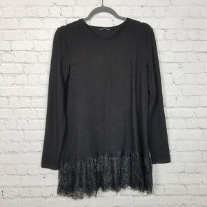 Zara | Plush Tunic Lace Sweater